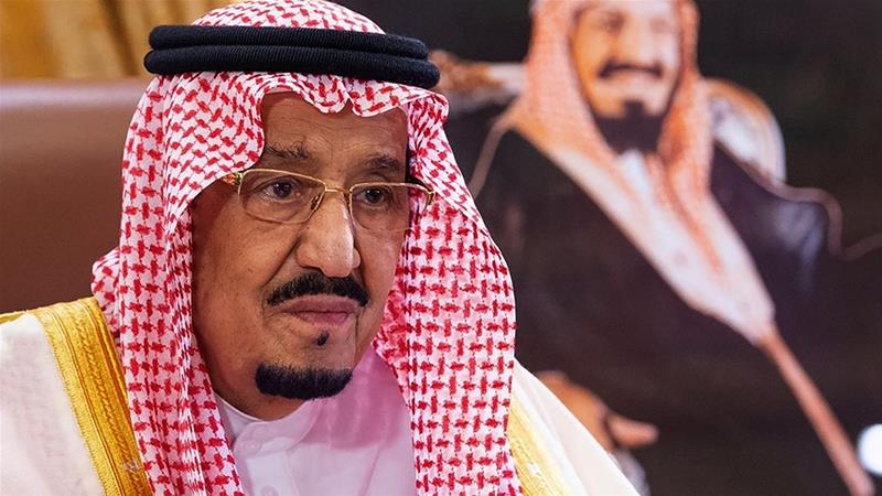 Saudi King Salman bin Abdulaziz spoke to United State President Donald Trump on the phone, state media reported [File: Bandar Al-Jaloud/Saudi Royal Palace via [AFP Photo]