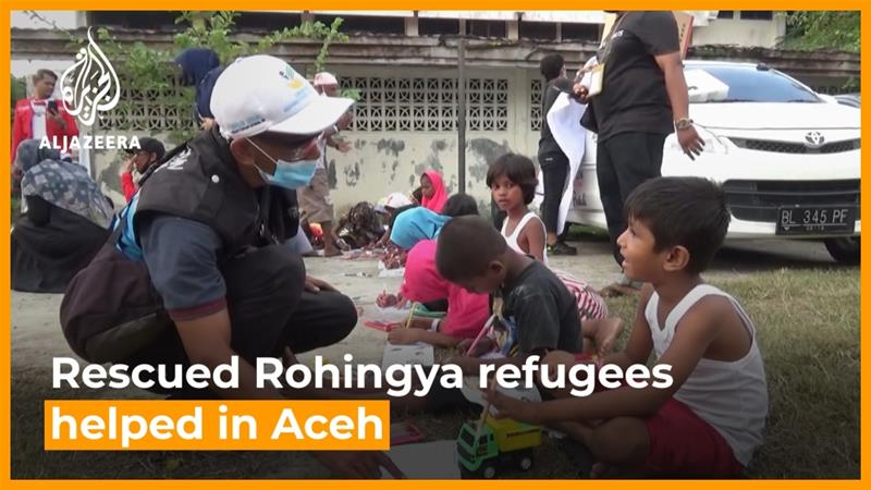 Aceh communities embrace rescued Rohingya refugees