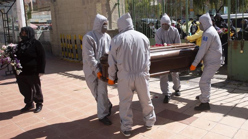 Bolivia has recorded more than 2,200 confirmed coronavirus deaths among its 11 million population [File: Juan Karita/AP]