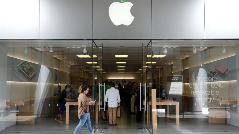 Apple, which has faced class action lawsuits from consumers alleging that it deceived them about slowing the performance of iPhones with aging batteries, agreed to pay up to $500m to settle one such lawsuit earlier this year [File: Lucy Nicholson/Reuters]