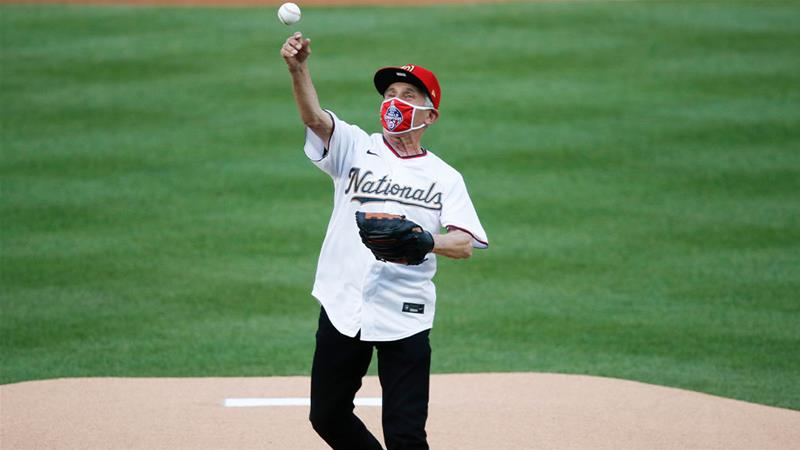 Fauci throws first pitch to start US Major League Baseball season