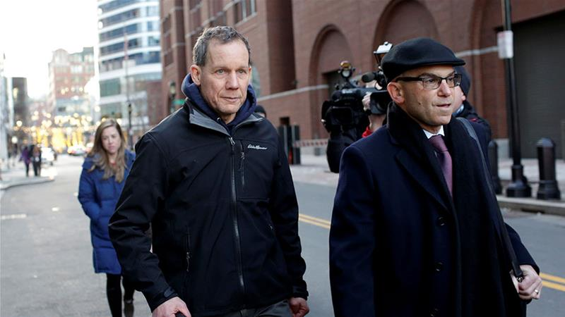 Charles Lieber leaves federal court after he and two Chinese nationals were charged with lying about their alleged links to the Chinese government, in Boston, Massachusetts, the United States [File: Katherine Taylor/Reuters]