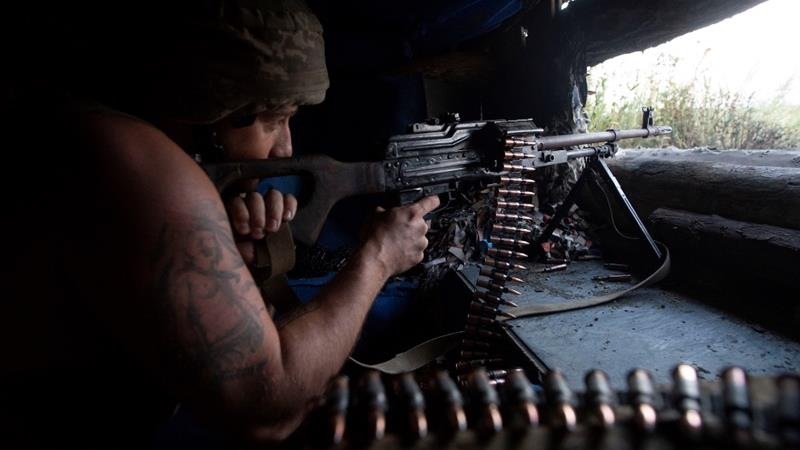 More than 13,000 people have been killed in the conflict [Iryna Rybakova/Ukrainian Defence Ministry via Reuters]