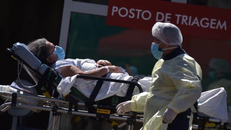 Brazil's outbreak is accelerating, but the central government is pushing for further relaxation of lockdown measures to curb the disease's spread [Andre Sousa Borges/EPA]