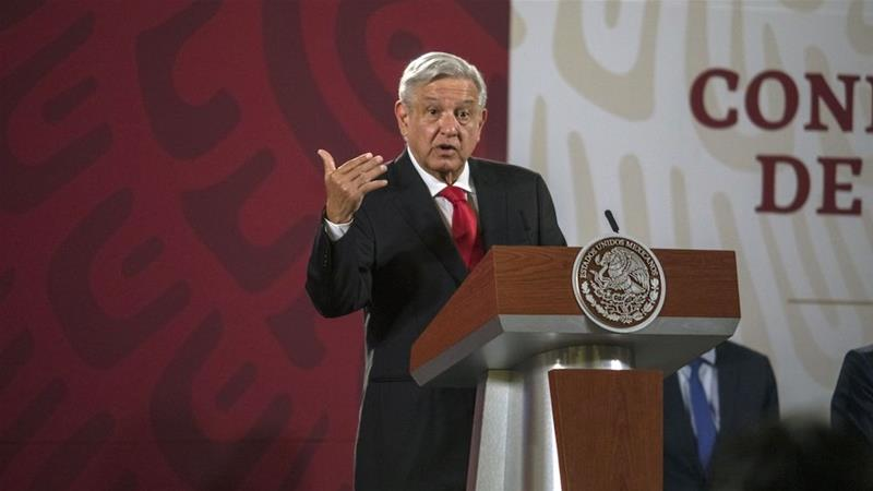 Mexican Andres Manuel Lopez Obrador has downplayed the use of face masks even as his finance minister said they were key to a successful economic reopening [File: Alejandro Cegarra/Bloomberg]
