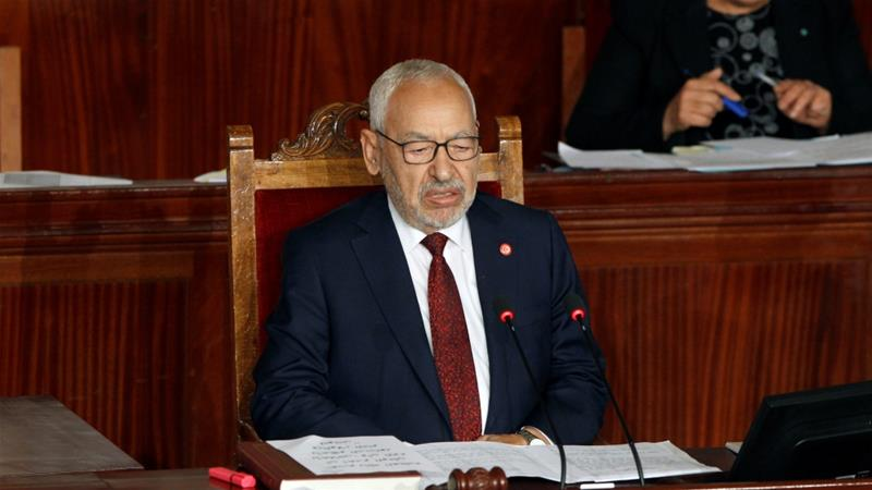Rached Ghannouchi's narrow margin of victory may indicate that Ennahdha will now face fiercer opposition in Parliament from parties that voted against him [File: Zoubeir Souissi/Reuters]