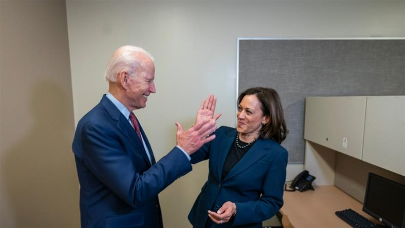 Biden, Harris vow to 'rebuild' America in their first campaign