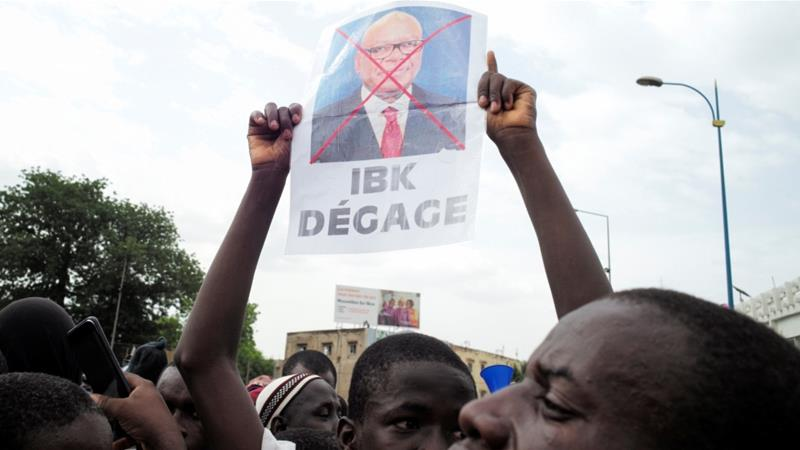 Protesters in the so-called June 5 Movement have repeatedly called for President Ibrahim Boubacar Keita to resign [File: Matthieu Rosie/Reuters]