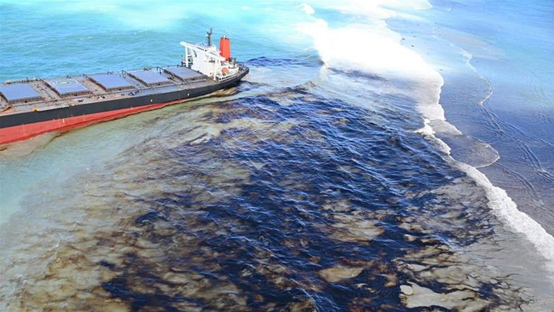 'Most of the oil' removed from damaged ship