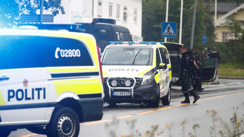 The arrest took place at a restaurant in Oslo on Saturday during a meeting of the two, police said [NTB Scanpix/Terje Pedersen/Reuters]