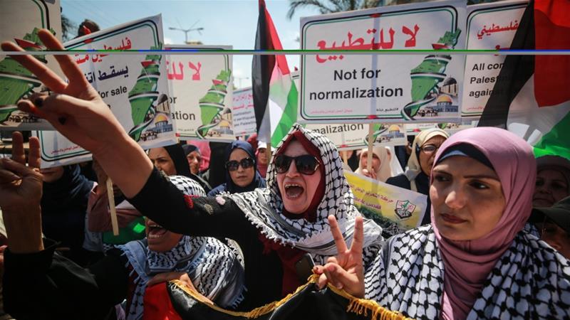 Palestinians in Gaza rally against Israel-UAE deal | News | Al Jazeera