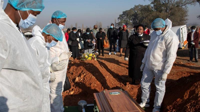 Slightly more than three million people have so far been tested for the virus in South Africa, which confirmed its first case five months ago, and 8,153 deaths have been recorded [Kim Ludbrook/EPA]