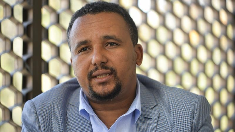 The arrest of Ethiopian activist Jawar Mohammed, who has accused PM Abiy Ahmed of abusing power, is at the centre of the protests [Michael Tewelde/AFP]