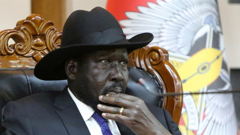 Disagreements between South Sudan's President Salva Kiir (pictured) and First Vice President Riek Machar, who led the main rebel group during the country's 2013-2018 civil war, have delayed the conclusion of the peace process, adding to uncertainty [FIle: Jok Solomun/Reuters]
