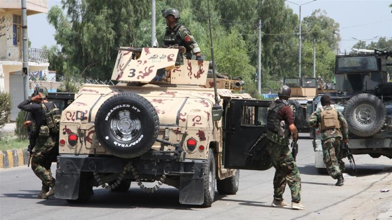 Afghan security forces conduct an operation in Jalalabad, Nangarhar province [File: Wali Sabawoon/Anadolu]