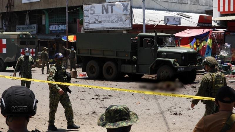 14 killed in Jolo twin bombings in southern Philippines