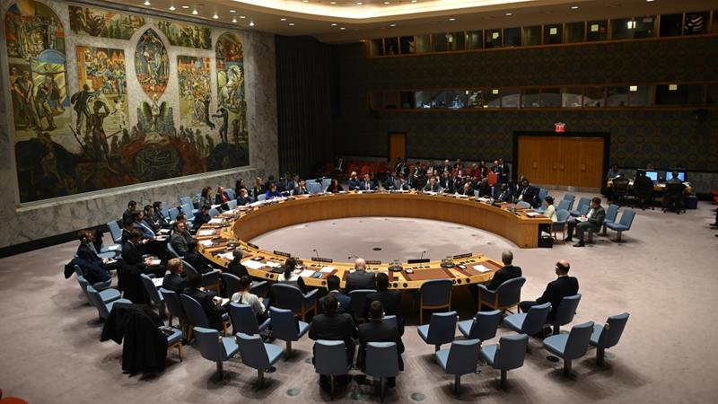 All the members of the United Nations Security Council, except the Dominican Republic, had informed the council's president that the US action against Iran was illegal [File: Johannes EiseleI/AFP]