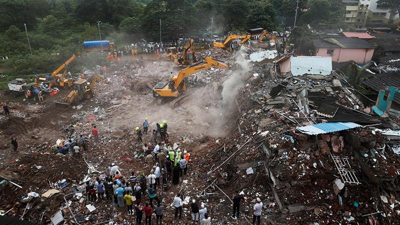 Dozens of survivors rescued from collapsed building in India