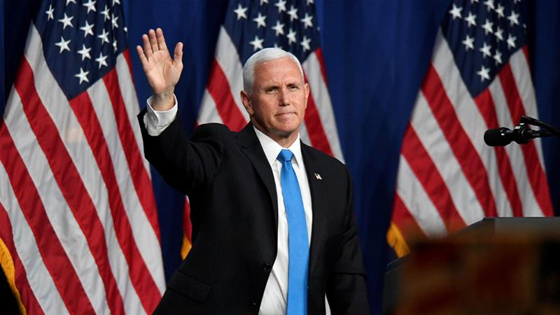 VP Mike Pence takes centre stage at US Republican convention | News | Al  Jazeera
