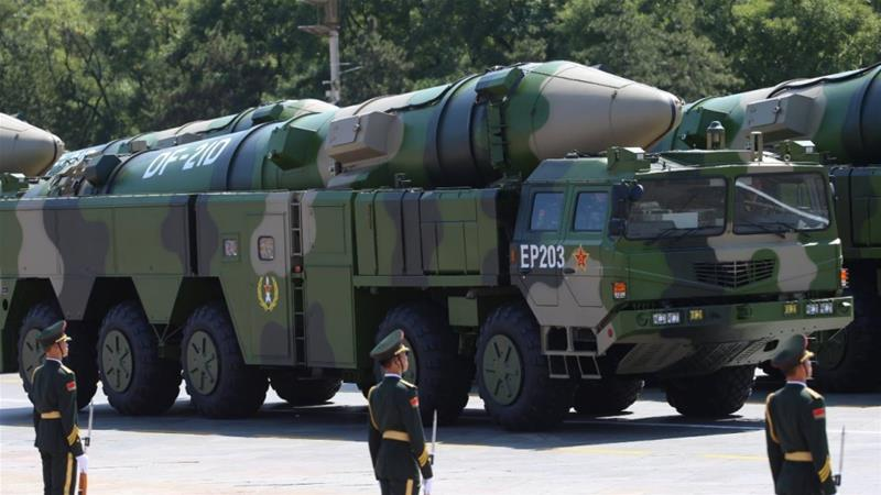 The DF-21 missile, has been described as an anti-ship ballistic system, also meant for attacking moving ships at sea [File: Wu Hong/EPA]