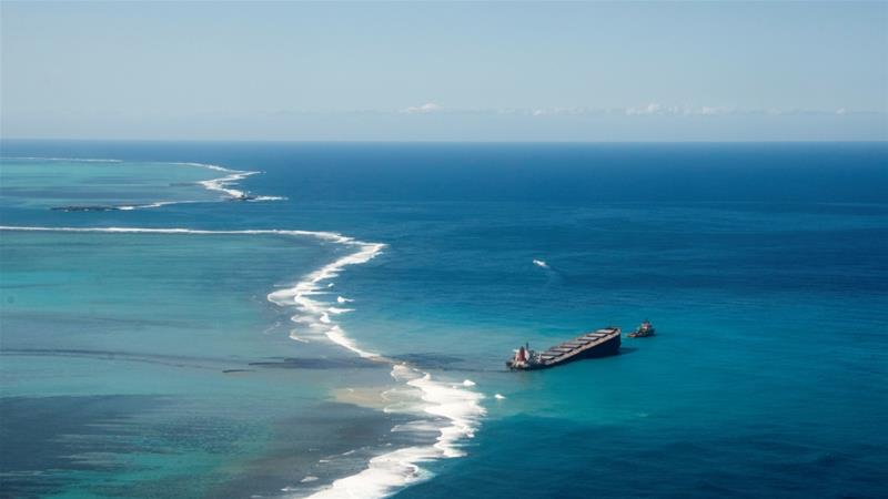 Residents and environmentalists have demanded investigations into why the ship strayed miles off course [Reuters]