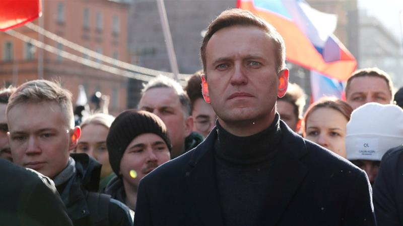 Russian opposition politician Alexey Navalny takes part in a rally in Moscow, Russia on February 29, 2020 [Shamil Zhumatov/Reuters]
