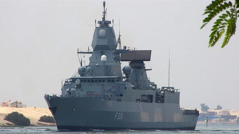 Germany's Sachsen class air-defence frigate 'Hamburg' [File: Stringer/AFP]