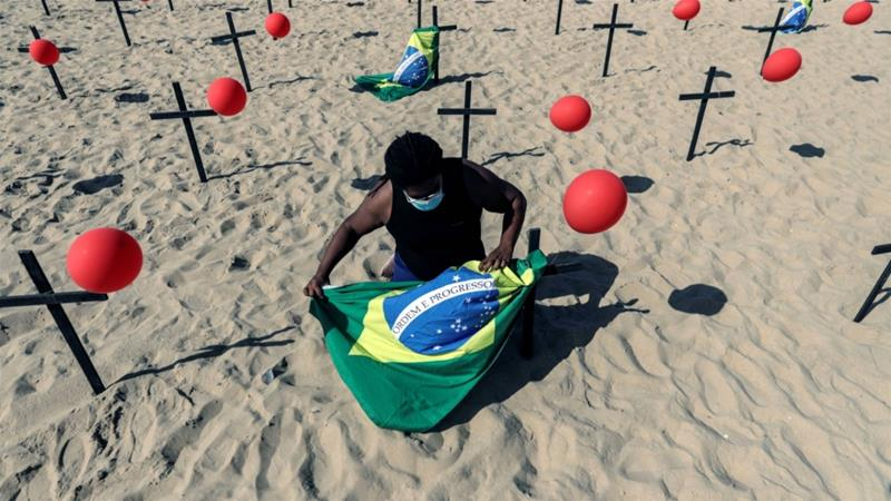 US COVID-19 cases hit 5 million; Brazil deaths at 100,000: Live