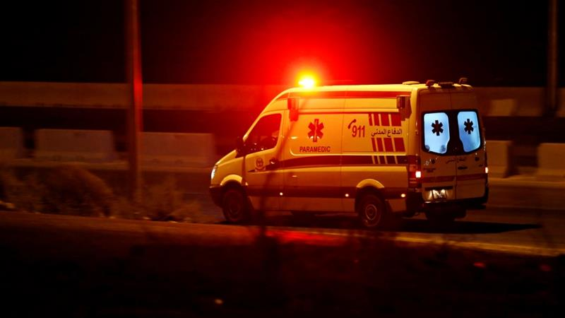 An ambulance heads towards the city of Zarqa on the highway between Jordanian capital of Amman and Zarqa [Muhammad Hamed/ Reuters]