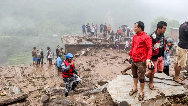 The most modern fatalities expand loss of life toll from landslides and flash floods within the June-September monsoon season to more than 300 [Niroj Chaoulagain/AFP]