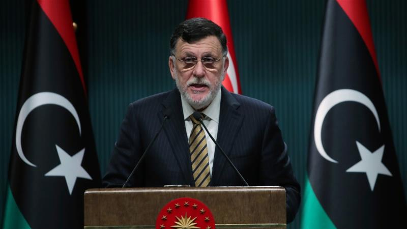 Fayez al-Sarraj has headed the GNA since it was formed in 2015 as a result of a UN-backed political agreement aimed at uniting and stabilising Libya after Muammar Gaddafi's removal [File: Turkish Presidency via AP]