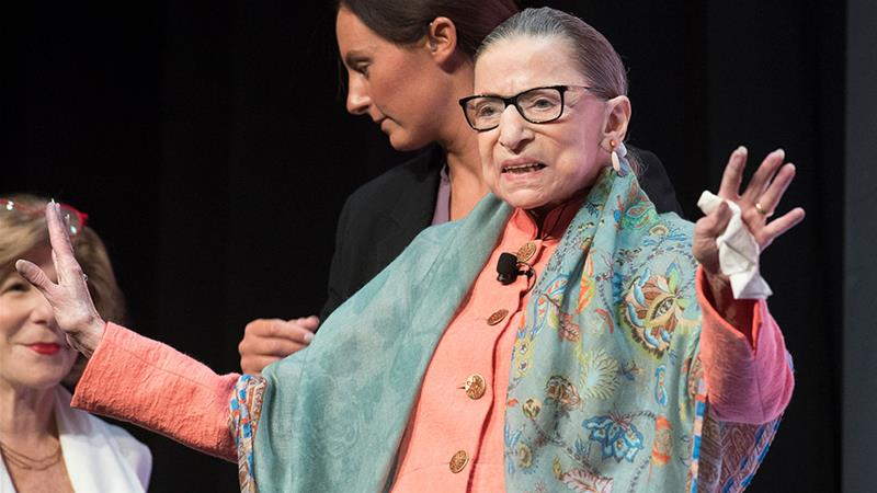 Ginsburg: 'A tireless and resolute champion of justice'