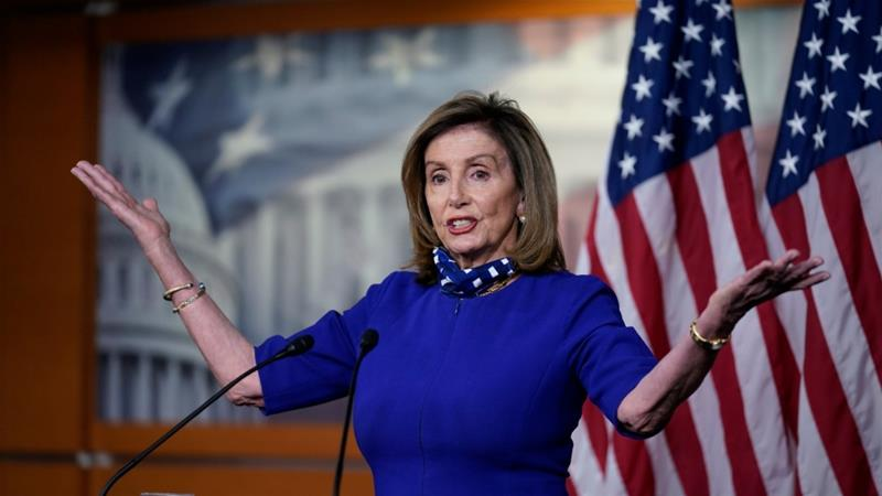 Trump Bashes Pelosi Over Salon Appointment That Flouted COVID-19 Rules