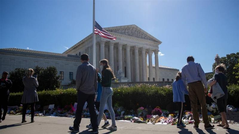 Ginsburg death brings Abortion rights urgency to USA election