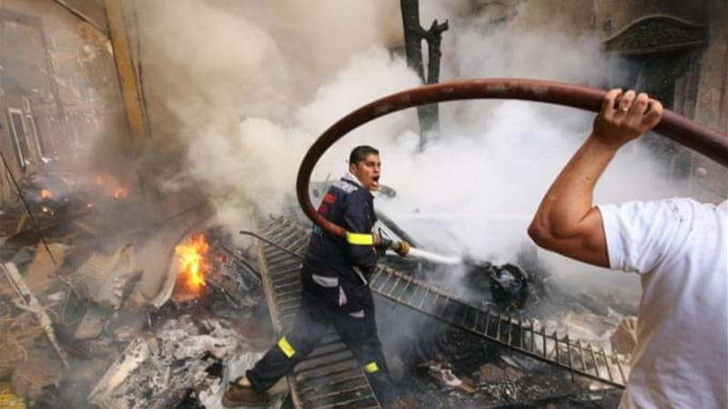 A car bomb exploded in a street in central Beirut during rush hour on October 19, killing at least eight people [REUTERS]