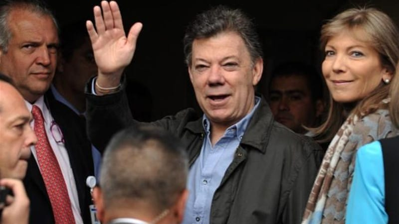 Colombian President Juan Manuel Santos began formal peace talks with the rebel group FARC on October 18 [AFP]