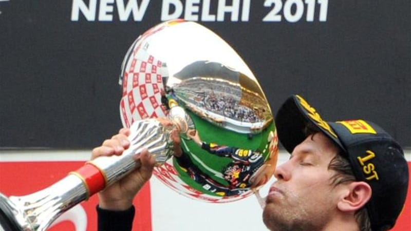 World Championship leader Sebastian Vettel won the inaugural Indian GP in 2011 [AFP]