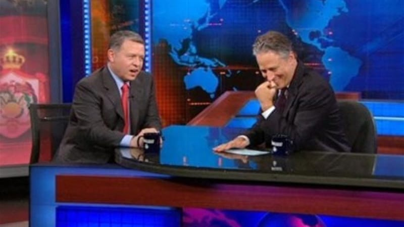 King Abdullah's appearance on the Daily Show was met only with deference from Jon Stewart [Comedy Central]