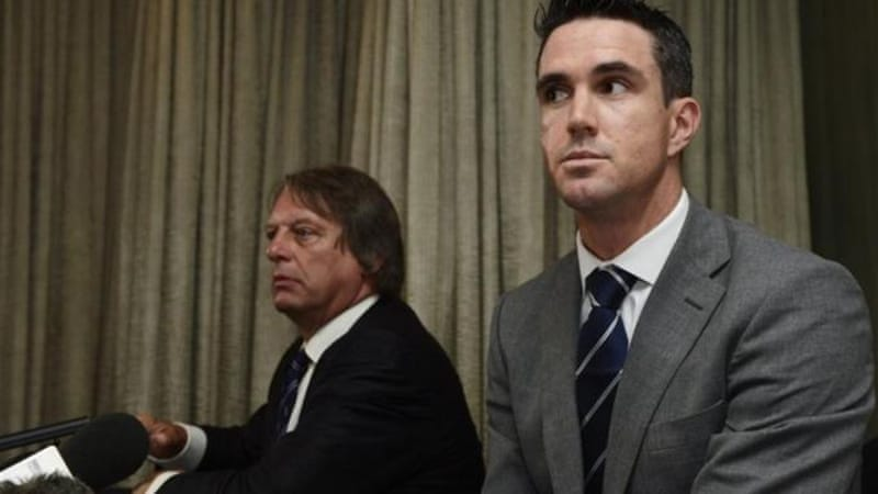 Pietersen attended a news conference where he announced his commitment to England [Reuters]