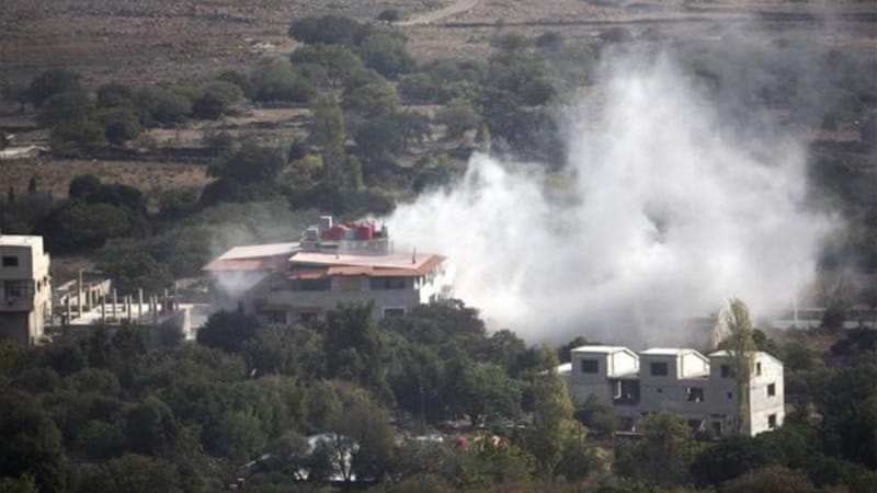 Mortar rounds from Syria have landed inside the Golan at least three times over the past ten days [AFP]