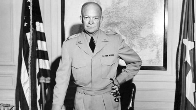 President Eisenhower successfully reined in Britain, France and Israel in their offensive against Egypt in 1956 [AFP]
