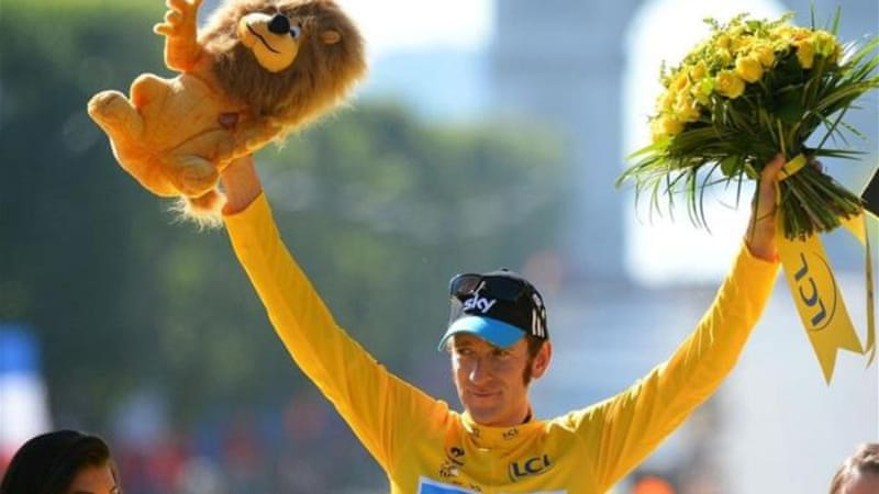 Wiggins became first Brit to win the Tour de France in 2012, with Froome in second [AP]