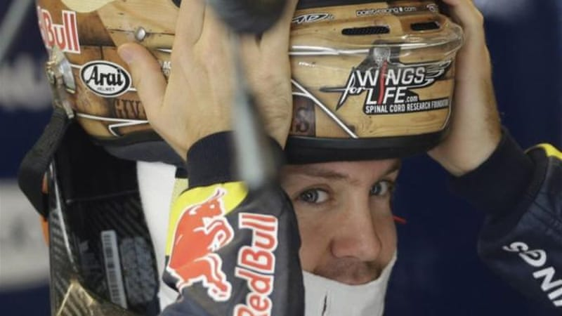 Oh behave! Vettel is closing in on his third world championship title, and he knows it [AP]
