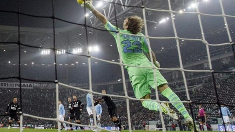 Lazio goalkeeper Federico Marchetti was on fire against league leaders Juventus [Reuters]