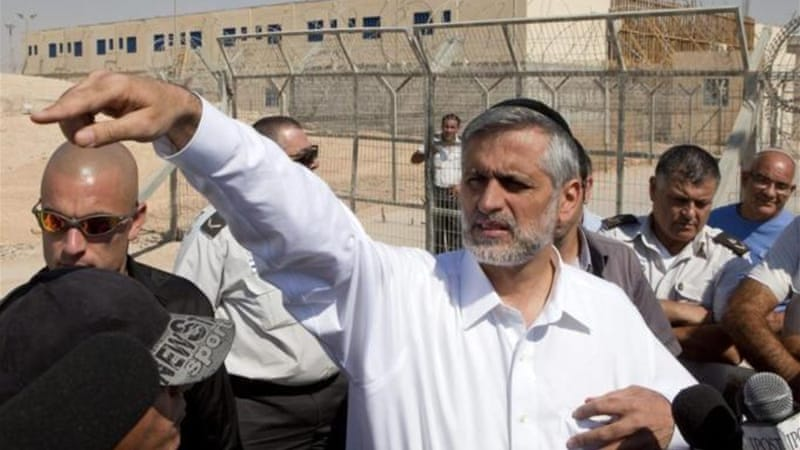 "Israeli Interior Minister Eli Yishai stated that current operations in Gaza should send it ""back to the Middle Ages"" [EPA]"