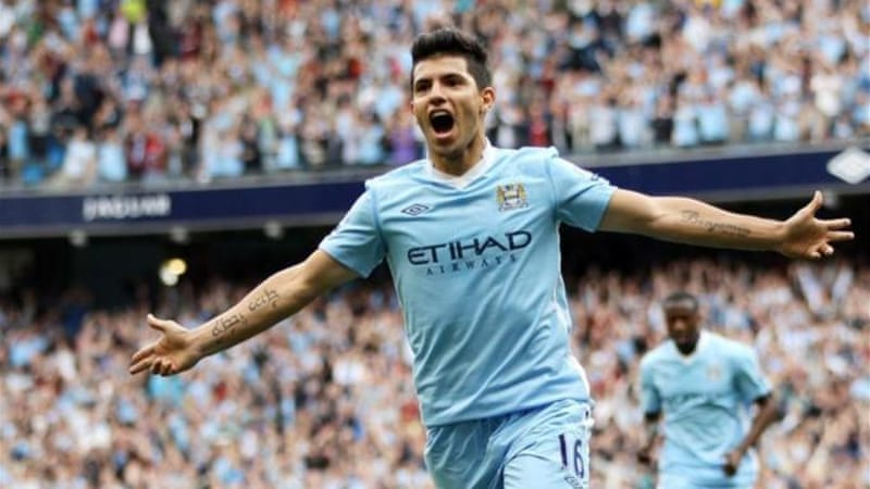 Aguero took no time settling into the Premier League and is a deadly presence in front of goal [AFP]