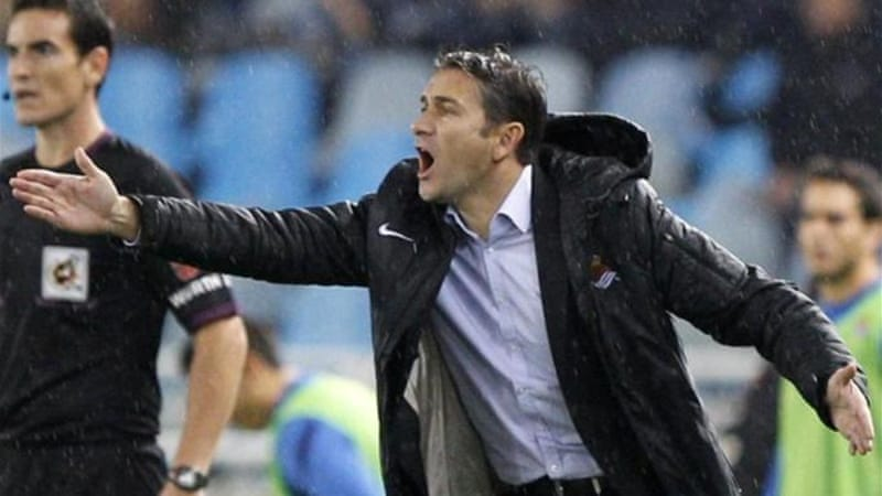 Sociedad coach Philippe Montanier is under pressure from fans after another poor result against Espanyol [AFP]