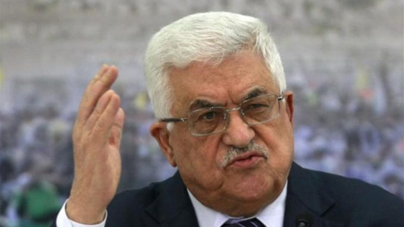 Abbas said changing the official language will strengthen a Palestinian state [AP]