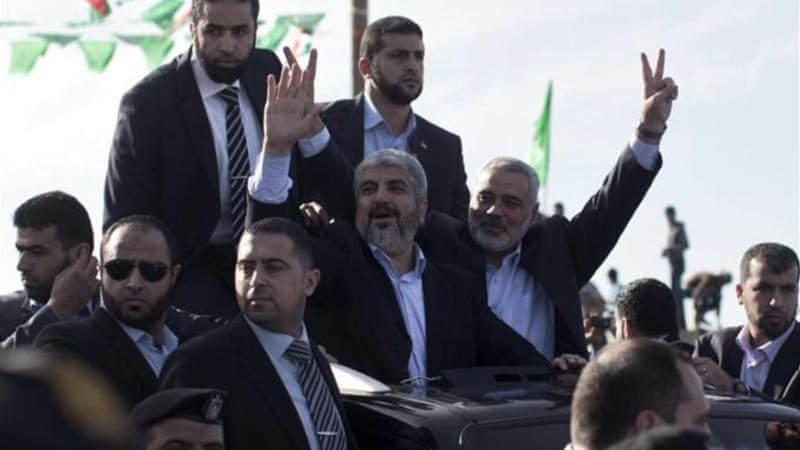 Hamas leader Khaled Meshaal recently visited the Gaza Strip for the first time ahead of Hamas' 25th anniversary [EPA]