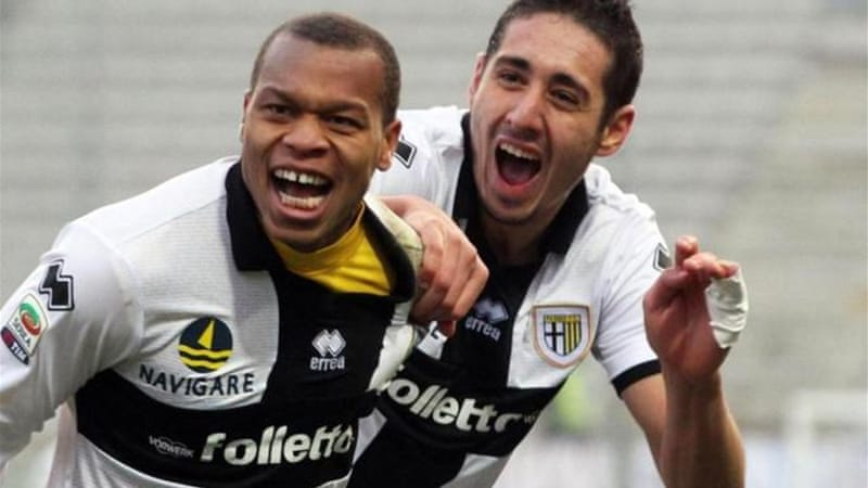 Parma's Ishak Belfodil (R) changed his nationality from France to Algeria but is unsure about competing in South Africa [EPA]